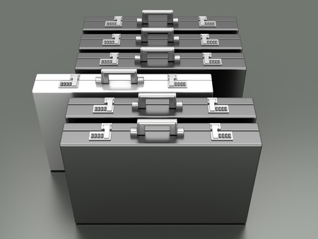 A special Briefcase. 3D rendered Illustration. illustration