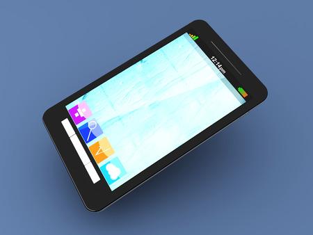 A modern Smartphone. 3D illustration. Stock Illustration - 22496548