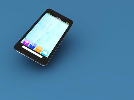 A modern Smartphone. 3D illustration. Stock Illustration - 22496551