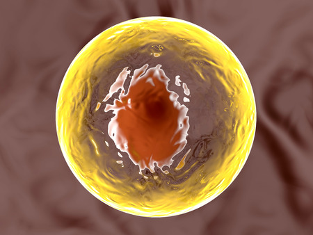 3D illustration of a living cell.