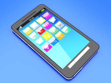 A modern Smartphone. 3D illustration. Stock Illustration - 22812936