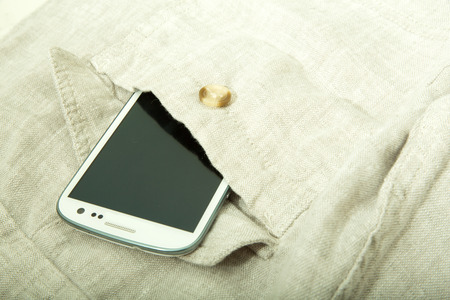 A Smartphone in the pocket. photo