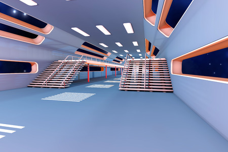 Space station Interior  3D Architecture visualization  photo