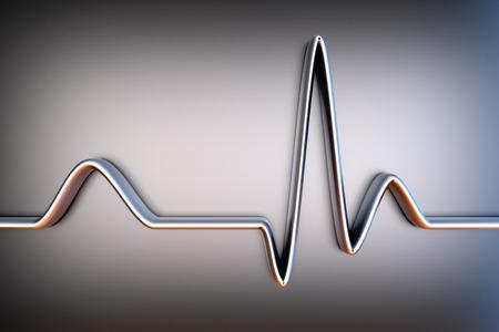 A ECG line. 3D Illustration. Stock Photo