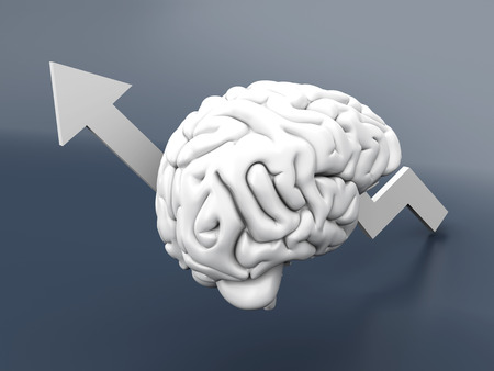 Growing intelligence  3D Illustration  illustration