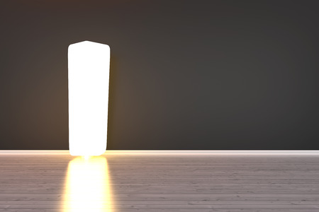 A lamp in a empty room. 3D illustration. illustration