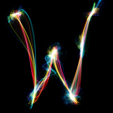 Digitally created letter formed out of plasma energy. photo