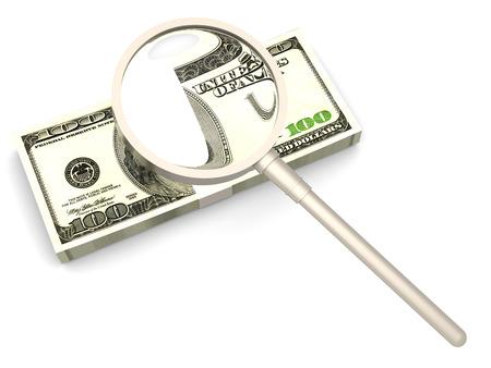 Looking for cash investments. 3D rendered Illustration. illustration