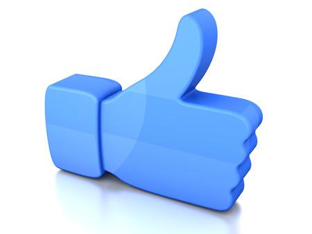 A symbolic thumb up. 3D illustration. Stock Illustration - 27891534