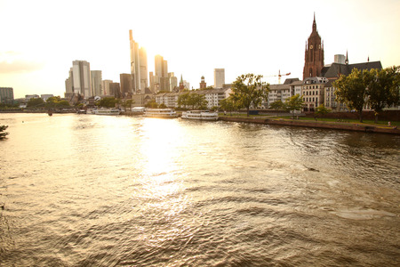 The skyline of Frankfurt am Main, Hessen, Germany, Europe.