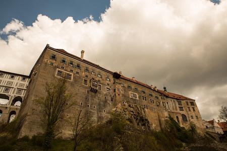 republik: Famous castle in Cesky Krumlov, Czech republik, Europe.