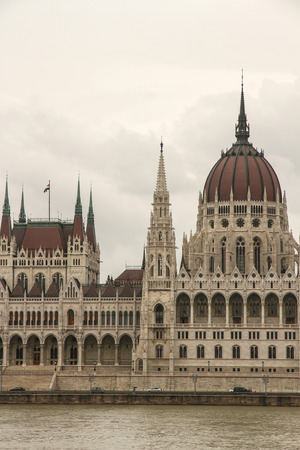 Parlament: The Hungarian Parlament in Budapest, Europe. Stock Photo