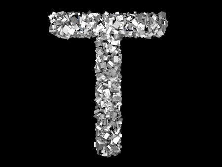 A letter formed out of metallic Crystals. photo