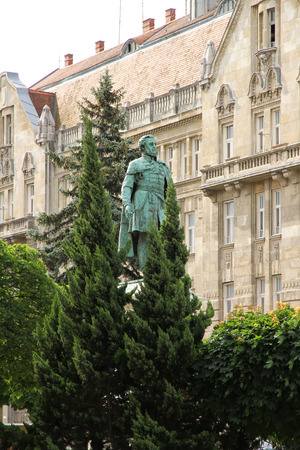 szechenyi: Statue of Istvan Szechenyi in Sopron, Hungary.