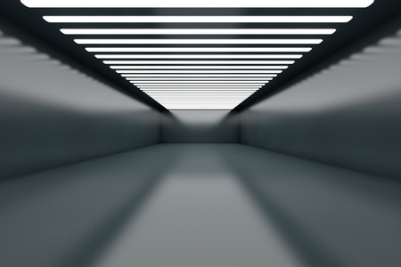 empty warehouse: 3D illustration of a empty warehouse with illumination.