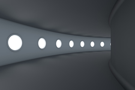 space station: 3D rendered Illustration of a empty futuristic spaceship or space station floor.