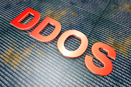 distributed: The DDOS - Distributed Denial Of Service - hackers attack. 3D rendered Illustration.