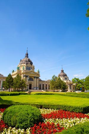 szechenyi: The Szechenyi Furdo in Budapest, Hungary.