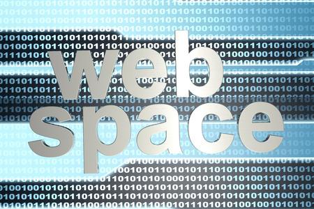 java script: Digital webspace and binary code. 3D illustration.