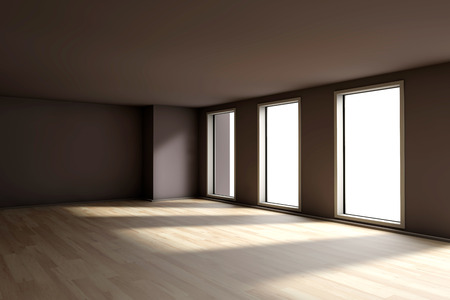 A empty residential room of a available apartment or house. photo
