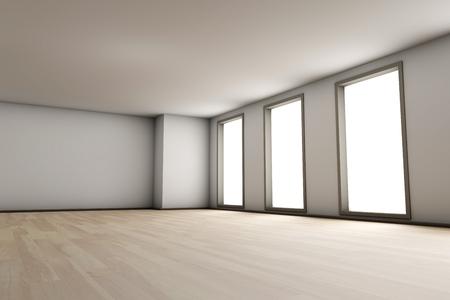 interior spaces: Empty Room Stock Photo