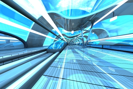 subway station: Futuristic Subway Station