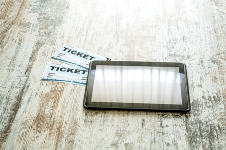 Buy Cinema Tickets online with a Tablet PC photo