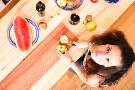 annals: Cutting fruits Stock Photo