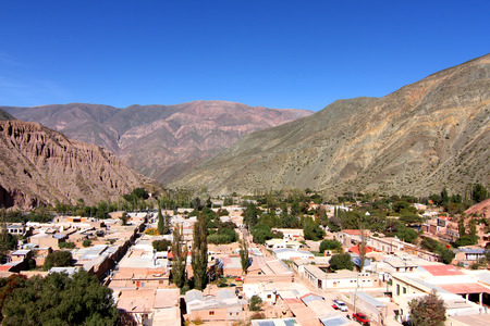 siete: View over the town of Purmamarca in the province of Jujuy, Argentina, South America.