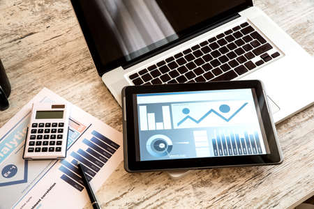 calculadora: Business Analytics con un Tablet PC