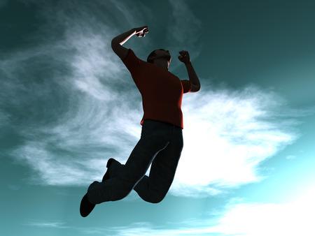 euphoric: Success Jump Stock Photo