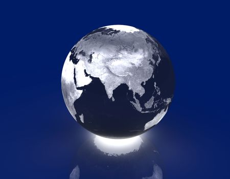 weltkugel asien: Gl�hend Globe - Asien