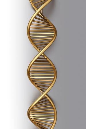 the strand: A symbolic DNA model. 3D rendered illustration.