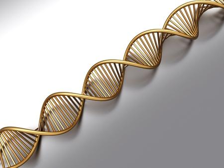 strands: A symbolic DNA model. 3D rendered illustration.