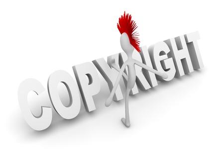 lawsuite: 3D rendered Illustration. Cartoon figure Isolated on white.