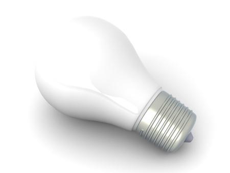 enlightened: A light bulb. 3D rendered Illustration.
