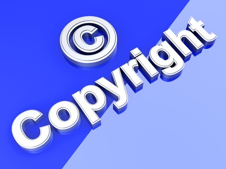 copyright: Copyright symbol. 3D rendered Illustration.