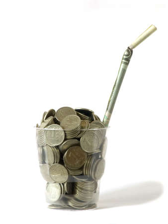 liquidity: Super money-coctail - 200 coins :) Stock Photo