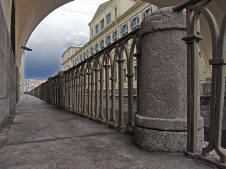fense:  This picture taken in Saint-Petersburg in Russia. Chanels of the Neva river