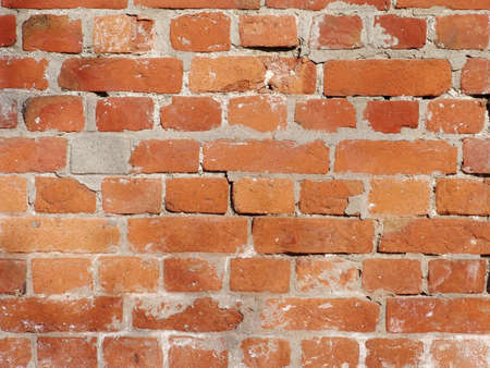cladding tile: The abstract photo of the old and dirty red brick wall