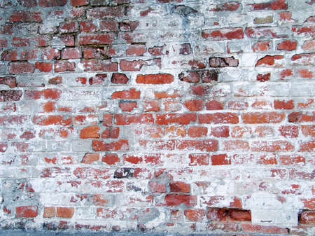 Photo of old red grungy brick wall. Big size and high quality. Can be used like a background or texture. photo