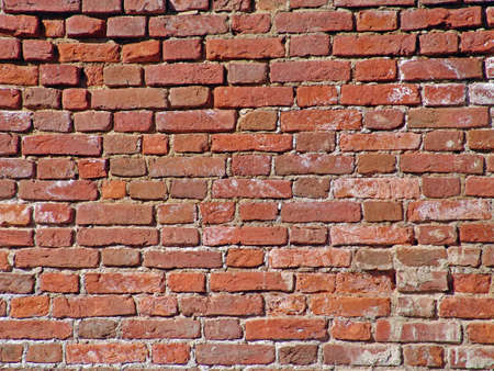 tilable: Photo of the old red brick wall Stock Photo