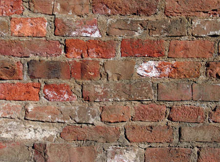 Photo of the old red brick wall photo