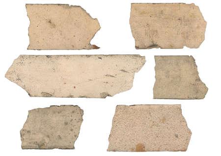 hi resolution: Escaneado de alta resoluci�n en los escombros de ladrillos. 6 diferentes fragmentos aislados. Sucio y ro�oso. Dise�adores - ser� mejor que saber d�nde usarlo