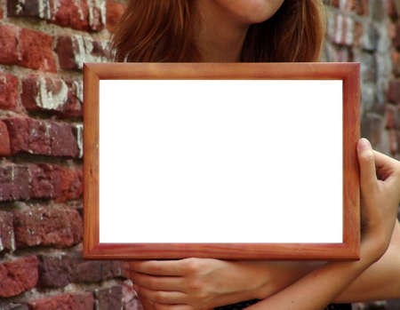 Empty frame for your texts or pictures photo