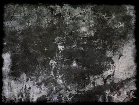 Old black grunge background with black border