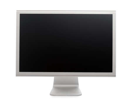 Professional widescreen computer monitor. Isolated over white background