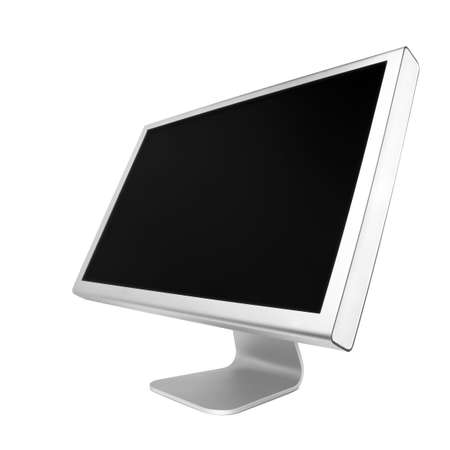 wideview: Professional widescreen computer monitor. Isolated over white background