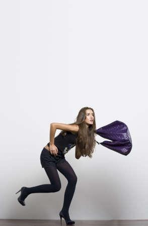 Running fashion model Stock Photo - 5428789