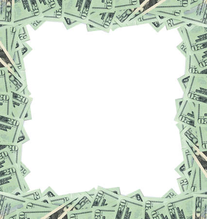 20 dollar bills frame photo